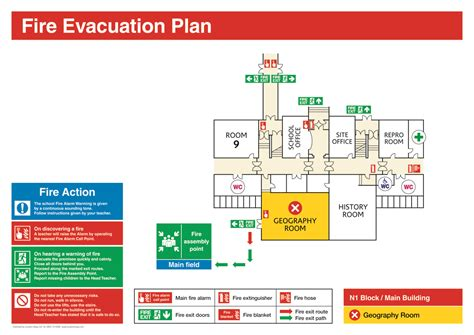 Fire Evacuation Diagram Fire Free Engine Image For User Manual Download Building Evacuation Map Template