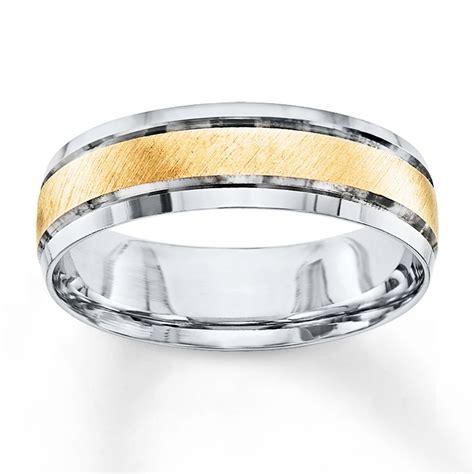kay wedding band   tone gold mm