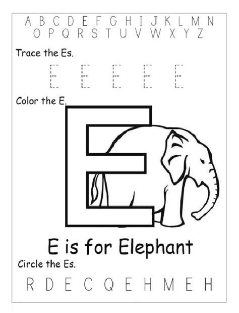 alphabet worksheets letter e trace letter e color the letter e circle letter e