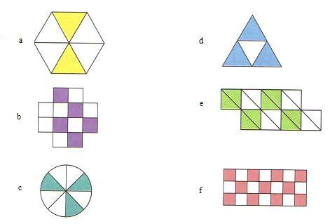 figuras geometricas fracciones ejercicios de fracciones web del peque