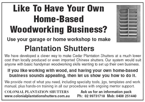 home based woodworking business work from home australian opportunities magazine work