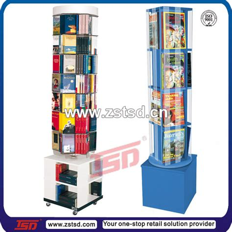 books for display tsd w515 custom free standing rotating mdf wooden book
