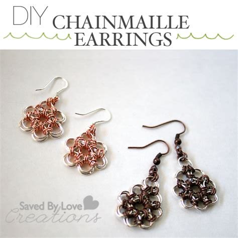 how to make chainmaille jewelry make lovely chain maille earrings