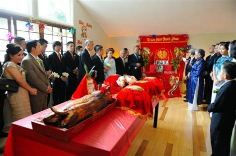 vietnamese tea ceremony   and the whole roast pig   Tea