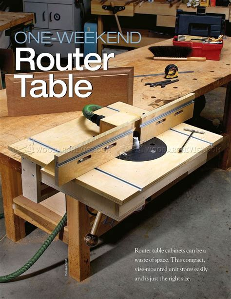 router bench table bench mounted router table plans woodarchivist