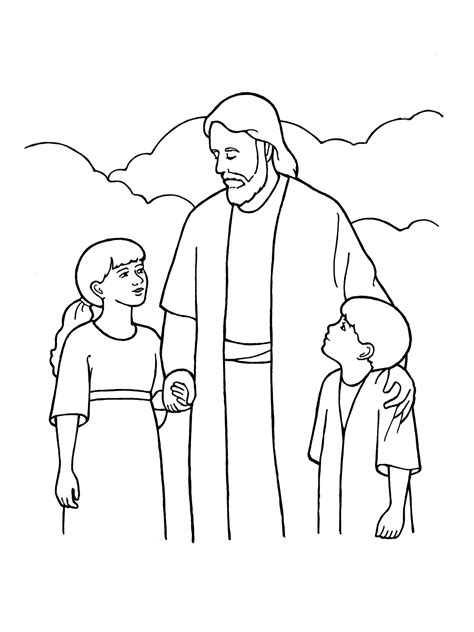 lds coloring pages of the savior eternal life