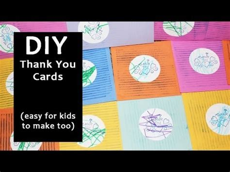 you make the card diy thank you cards easy for to make