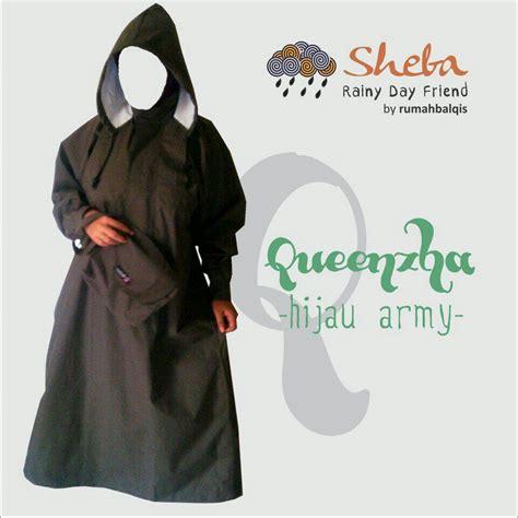 Jas Hujan Gamis jual jas hujan gamis hijau army pusat outdoor muslimah