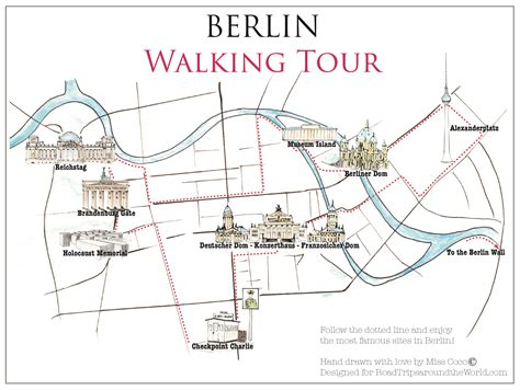 map of berlin a walking tour map of berlin only on road trips around