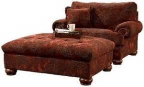 Oversized Comfy Chair With Ottoman Leather Chair And A Half With Ottoman Foter
