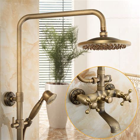 vintage copper top and bathroom shower faucet system