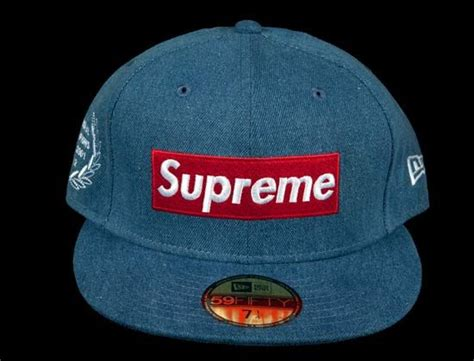 supreme c cap supreme x new era chionship box logo 59fifty fitted