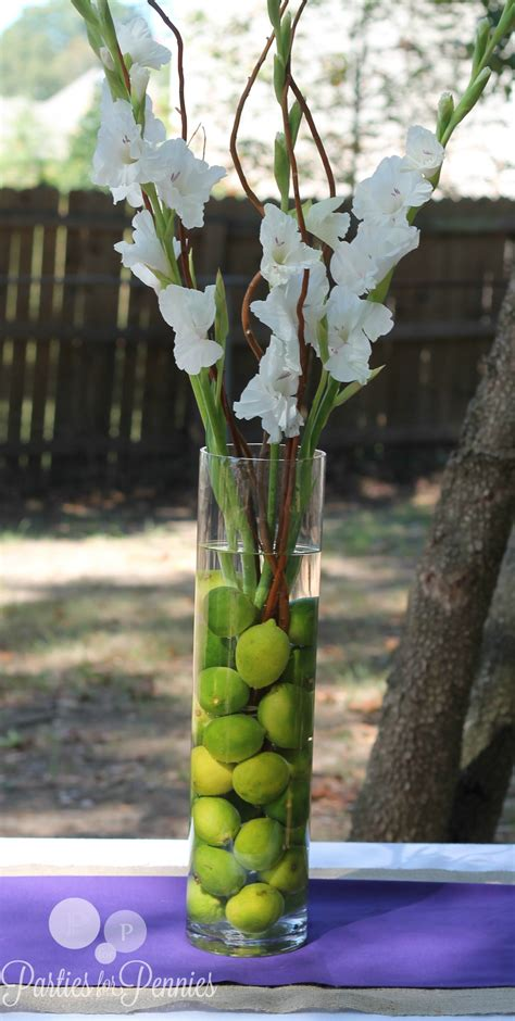 Wedding Centerpiece 1 Parties For Pennies Lime Green Centerpieces