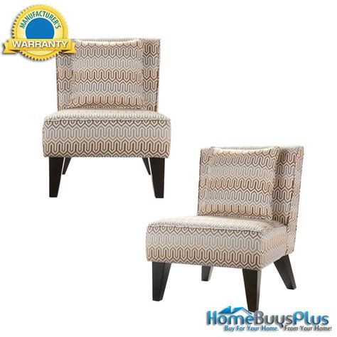 Accent Chair Set Of 2 Set Of 2 Sybilla Armless Accent Chairs With Pillows Living Room