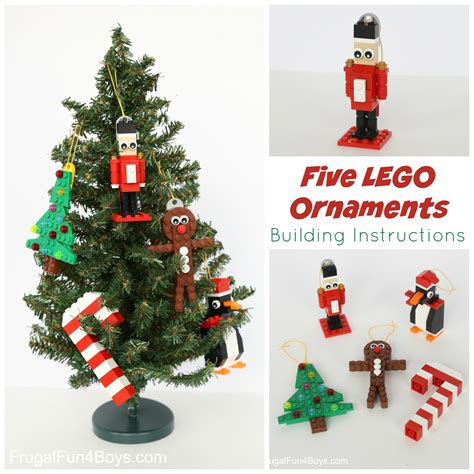 lego weihnachtsbaum bauanleitung five lego ornaments to make with building