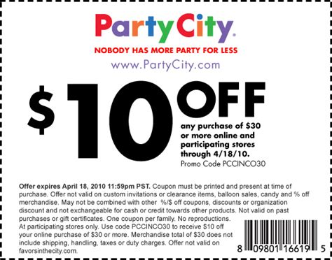 Printable Food City Coupons | party city printable coupon