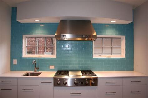 aqua glass subway tile