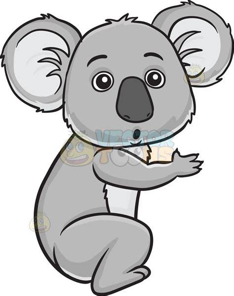 clipart koala a surprised koala a small with big ears gray