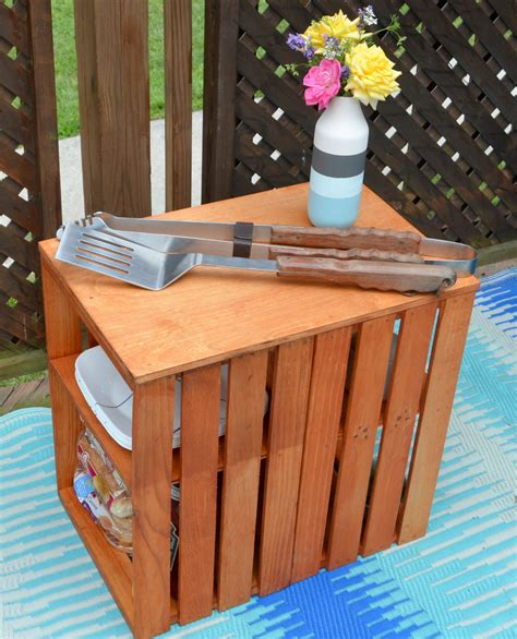 wooden crate table diy wooden crate outdoor table latta creations