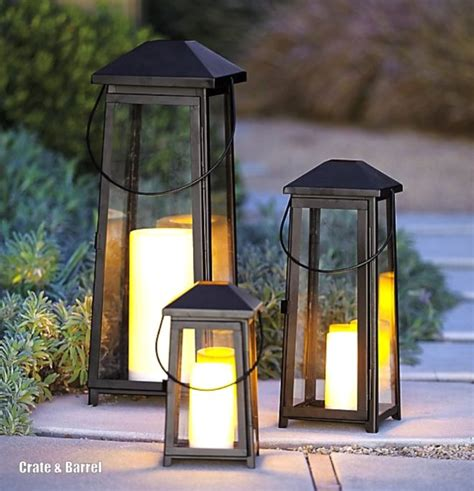 Crate And Barrel Outdoor Lighting Outdoor Decor Embrace The Lantern Trend