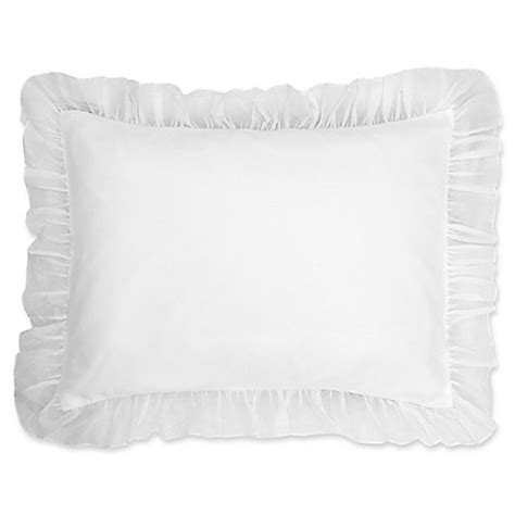 pillow shams bed bath and beyond buy cotton voile king pillow sham in white from bed bath