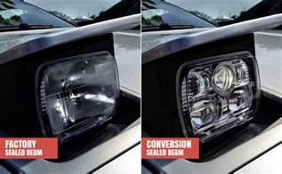 Halos Lights A Guide To Conversions For Sealed Beam Headlights Autoblog