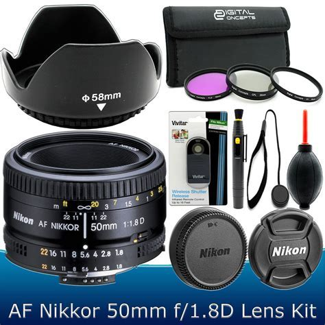 Nikon 50mm f/1.8D AF Nikkor Lens Kit for Nikon D3300 D3200