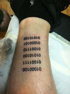 binary code tattoo ideas on programming humor computer