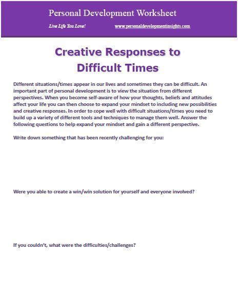 7 Worst Responses To I You 2 by Personal Development Worksheets Free