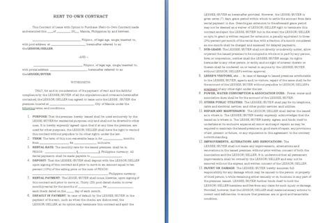Auto Purchase Agreement Exle Mughals Vehicle Lease To Own Agreement Template