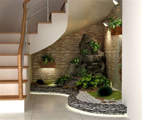 interior garden if you have an empty space under the stairs in your home
