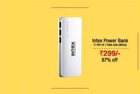 Power Bank Bcare 11000 Mah 11000 mah intex power bank at rs 299 at s diwali