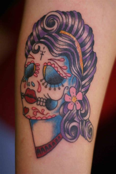 pinup girl tattoos day of the dead tattoos designs ideas and meaning