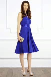 goddess short dress cobalt blue wedding dress from coast