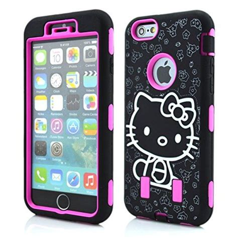 Pics Of Hello Kittyhard Caseiphone Semua Hp for iphone 6 6s 4 7 quot hello hybrid shockproof defender style cover hp ebay