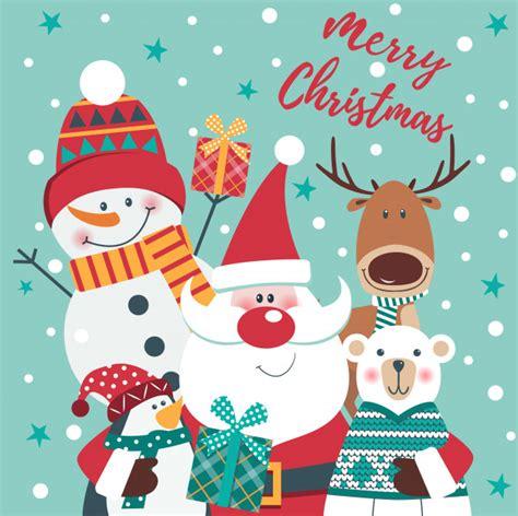 merry christmas card vector premium