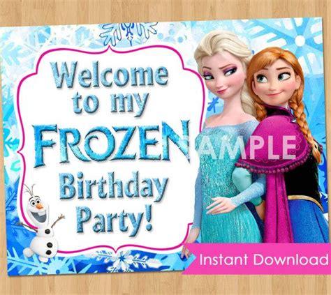 frozen printable welcome frozen sign instant download disney frozen sign