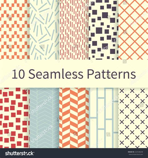pattern and texture difference 10 geometric fashion different vector seamless patterns