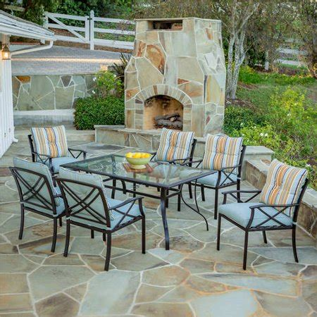 walmart patio dining sets redford 7 patio dining set seats 6 walmart