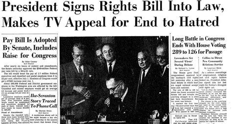 Civil Rights the civil rights act became 50 years ago today here s