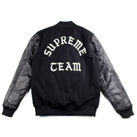 supreme team supreme team baseball jacket black