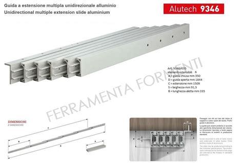 guide telescopiche per tavoli omge 9346 35 coppia guide telescopiche in alluminio per
