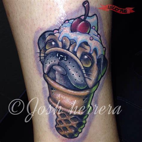 skin factory tattoo scoop of pug tattooed by josh herrera of skin factory