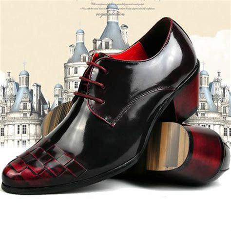 high heel mens shoes maroon shoes modern vintage black burgundy high