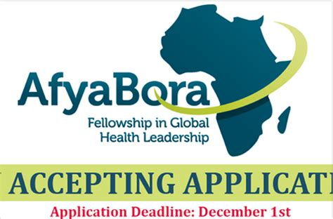 The Consortium Mba Fellowship by Afya Bora Consortium Fellowships 2017 2018 In Global