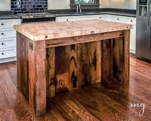 reclaimed wood love custom made kitchen island from vintage with tin panels