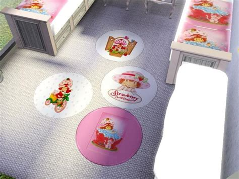strawberry shortcake bedroom decor mandysa3 s strawberry shortcake round rug