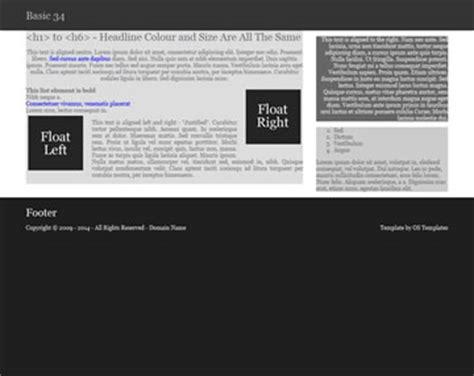 basic html5 templates basic 34 free html5 template html5 templates os templates
