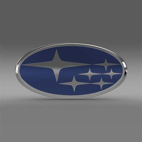 subaru emblem drawing subaru logo 3d model max obj 3ds fbx c4d lwo lw