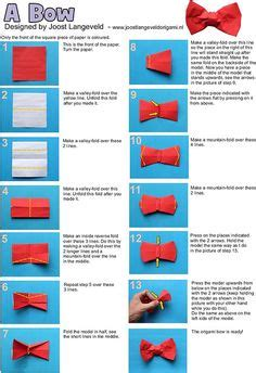 How To Make Bow Ties Out Of Paper - 1000 ideas about origami bow on origami easy